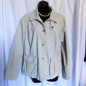 Eddie Bauer XL Tan Corduroy Jacket